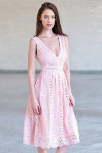 Lily Boutique Pink Lace Dresses
