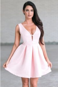 Plus sized pink dresses at Lily