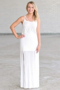 Ivory maxi dresses at Lily