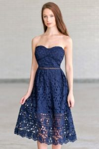 Lily Navy dresses for casual wear pageants