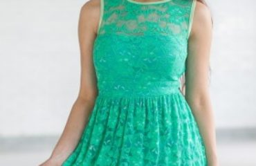 Lily Party Dresses in Green